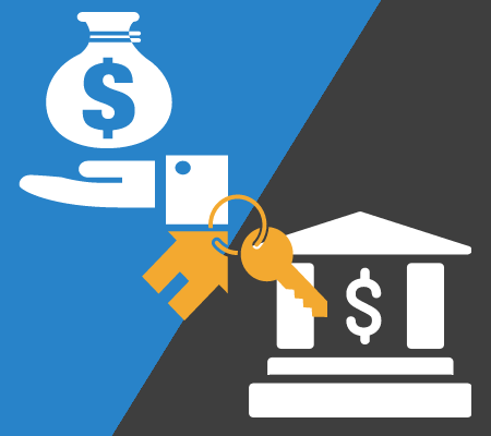 buying a used car—money, keys, and bank